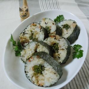 わらびの太巻き寿司