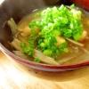大豆と根菜の味噌汁