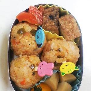春のお弁当第二弾/真ん丸ケチャップライス