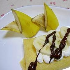♪バナナクレープ(+バナナの切り違い)♪
