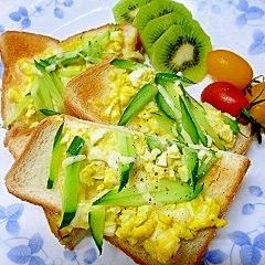 懐かしの卵トースト♪