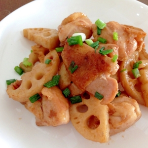 オイスターしょうゆで☆鶏肉とレンコンの中華炒め