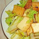 厚揚げと白菜の甘酢炒め