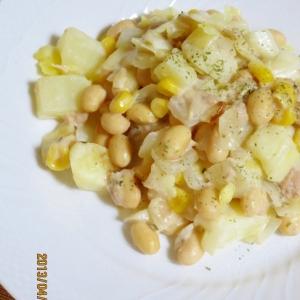 バターミルクランチde大豆と色々お野菜のサラダ★