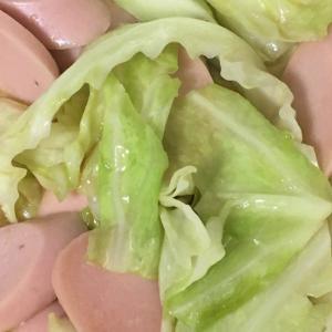 魚肉ソーセージとキャベツの中華風味炒め☆