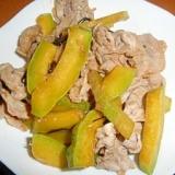 カボチャと豚肉の塩コブオイスター炒め