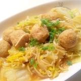 【ボリューム満点!】白菜と肉団子の煮物