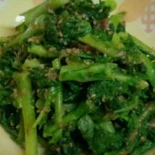 春野菜☆フライパンで簡単☆菜の花の胡麻合え