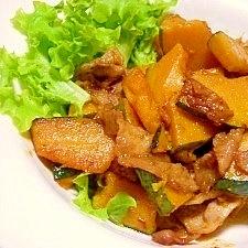 南瓜と豚肉の簡単炒め物