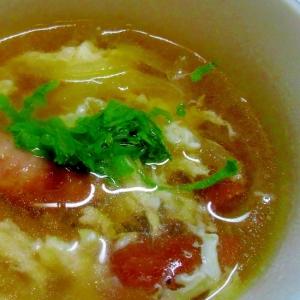 ウインナーと玉ねぎのコンソメスープ