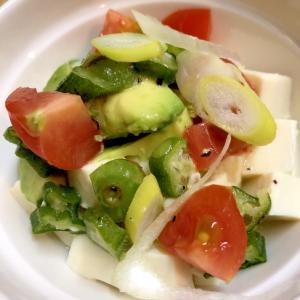 豆腐と色々野菜のイタリアンサラダ