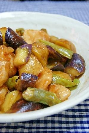 鶏胸肉と野菜の甘酢炒め