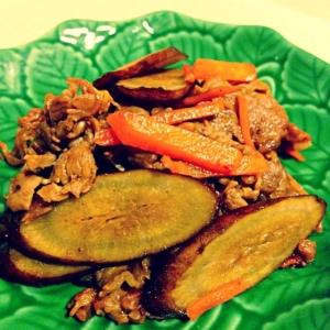 牛肉とごぼうの炒め煮