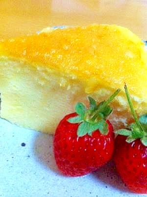 低コストで簡単☆スフレチーズケーキ♪(18cm型)