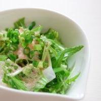 大根と水菜のタラマヨサラダ