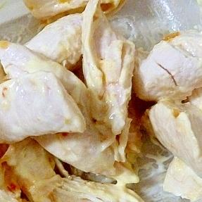 鶏ささ身のチリマヨソース和え