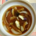 玉ねぎと茄子の味噌汁