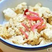 豆腐のかみなり丼