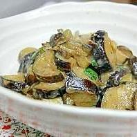 なすの大葉味噌炒め。