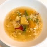 ホクホク素材で☆薩摩芋とかぼちゃのコンソメ卵スープ