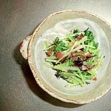水菜の梅ひじき和え
