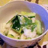長芋・きゅうりの胡麻酢和え