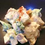 薩摩芋とムネ肉のヨーグルトマヨ☆サラダ