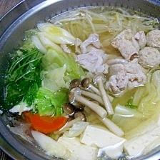 塩ちゃんこ鍋のスープ