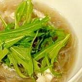 舞茸と春雨の中華スープ♪