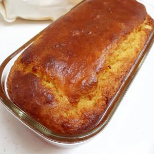 小麦グルテンin大豆粉のバナナパウンドケーキ♪