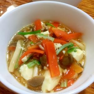 豆腐と野菜のあんかけ♪レンジで簡単♪