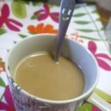 マロン風味のコーヒー