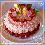 ひな祭りケーキ