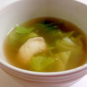 鶏だしがおいしい☆鶏肉とキャベツのスープ
