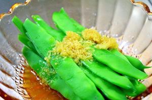 いんげんの生姜醬油ドレッシング