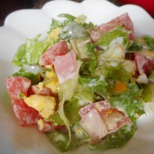 ハムとトマトとゆで卵のマヨサラダ