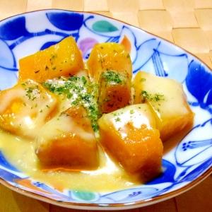 レンジで簡単!和風チーズかぼちゃ