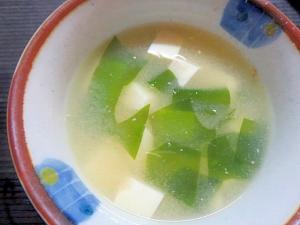 簡単生ワカメの味噌汁
