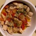 カジキマグロとトマトの禁断の黒胡椒炒め