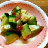 胡瓜の中華梅和え