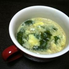 わかめとえのきの中華スープ