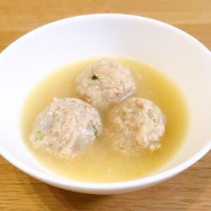 レンコンと鶏団子のお味噌汁