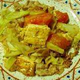 トマト入り豆腐チャンプル