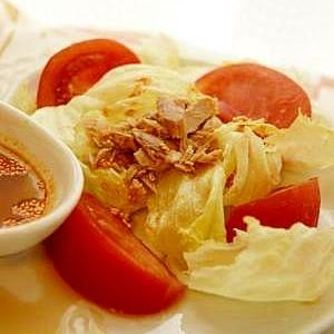レタスとツナの中華風サラダ
