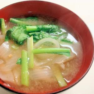 小松菜とごぼうの味噌汁