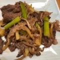 牛肉とジャガイモのにんにく醤油炒め