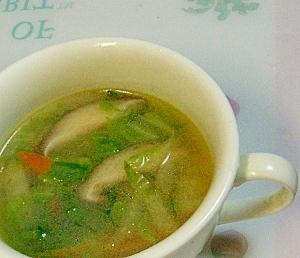 しいたけ旨みの中華野菜スープ