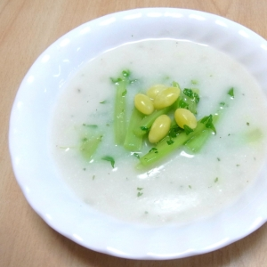 大根の葉とぎんなん入り 大麦生活クリームスープ