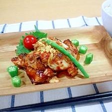 夏がつおの韓国風味噌焼き