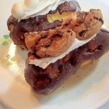 チョコチップクッキーとホイップのエクレア